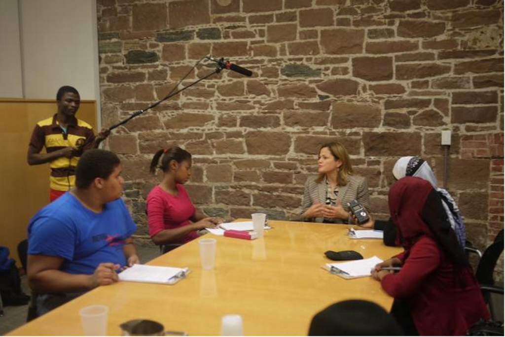 Bronx students interview speaker Mark-Viverito
