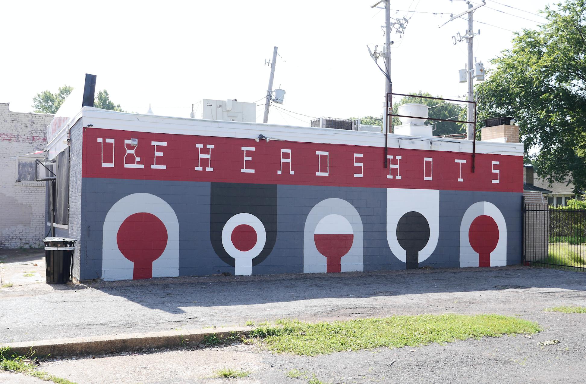 Headshots mural