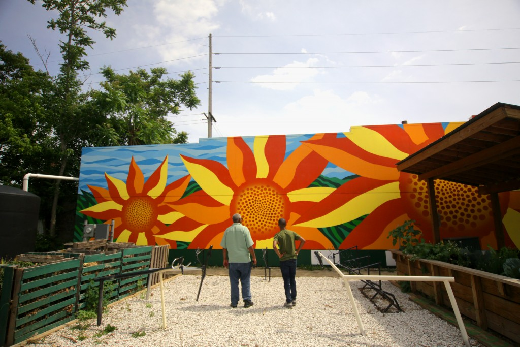 Moores sunflower mural